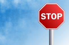 Pare o sinal Imagens de Stock Royalty Free