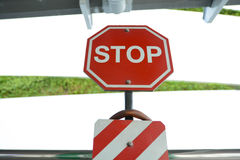 Pare o sinal Fotografia de Stock Royalty Free