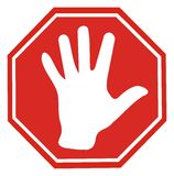 Pare o sinal Imagem de Stock