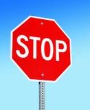 Pare o sinal Imagem de Stock Royalty Free
