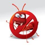 Pare o sinal da formiga ilustração stock
