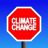 Pare o sinal da mudança de clima Fotos de Stock