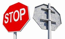 Pare o sinal de estrada Fotos de Stock