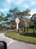 Pare o sinal de tráfego Foto de Stock