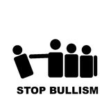 Pare o sinal do branco do bullism ilustração stock