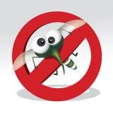 Pare o sinal do mosquito Imagem de Stock Royalty Free