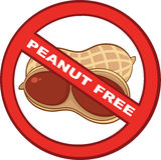 Pare o sinal dos amendoins com texto ilustração do vetor