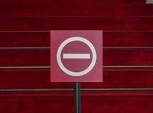 Pare o sinal Nenhum sinal da entrada Imagem de Stock Royalty Free