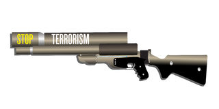 Pare o terrorismo Imagem de Stock Royalty Free