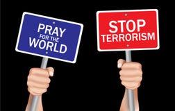 Pare o terrorismo fotos de stock
