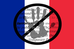 Pare o terrorismo em França Fotografia de Stock Royalty Free
