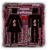 Pare o tráfico do ser humano Foto de Stock Royalty Free