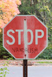 Pare o vandalismo imagem de stock