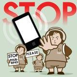 Pare o vetor da campanha de Phubbing Fotografia de Stock Royalty Free