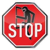 Pare para assaltantes Foto de Stock Royalty Free
