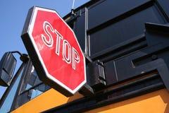 Pare para Schoolbus Fotografía de archivo libre de regalías