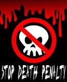 Pare a penalidade de morte Foto de Stock