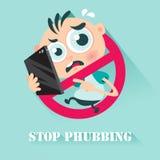 Pare Phubbing Imagens de Stock