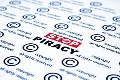 Pare a pirataria Imagem de Stock Royalty Free