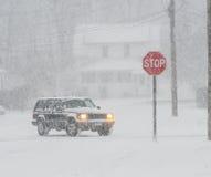 Pare por favor el nevar Foto de archivo libre de regalías
