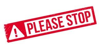 Pare por favor el sello de goma Fotos de archivo libres de regalías