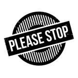 Pare por favor el sello de goma Imágenes de archivo libres de regalías