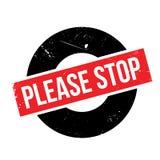 Pare por favor el sello de goma Imagenes de archivo