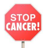 Pare a recuperação do tratamento da investigação médica da doença da cura do câncer ilustração stock