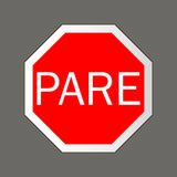 Pare. Road signs. Royalty Free Stock Photos