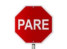 Pare Sign Fotografia de Stock