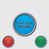 Pare teclas 'Iniciar Cópias' Imagem de Stock