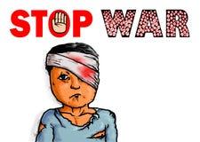 Pare a vítima do símbolo do sinal da guerra Foto de Stock