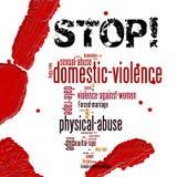 Pare a violência doméstica contra mulheres imagens de stock royalty free