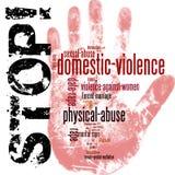 Pare a violência doméstica contra mulheres ilustração royalty free