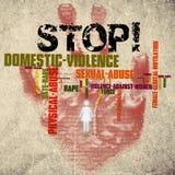 Pare a violência doméstica contra mulheres imagem de stock