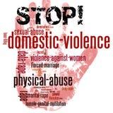 Pare a violência doméstica contra mulheres imagens de stock