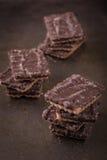 Parecchi biscotti del cioccolato Immagine Stock