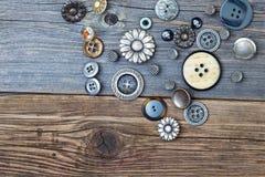 Parecchi bottoni dell'annata Fotografia Stock Libera da Diritti