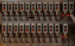 Parecchi commutatori sulla parete Fotografie Stock Libere da Diritti