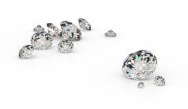 Parecchi diamanti Fotografie Stock Libere da Diritti