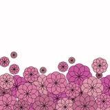 Parecchi fiori di rosa su fondo bianco Fotografia Stock Libera da Diritti