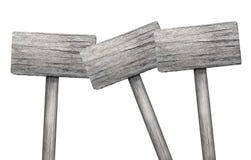 Parecchi segni di legno su fondo bianco Fotografie Stock Libere da Diritti