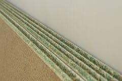 Parecchi truciolati a forma di strato umidità-resistenti Fotografia Stock Libera da Diritti