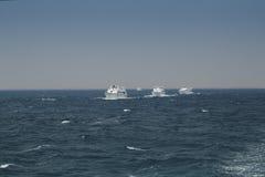 Parecchi yacht Fotografie Stock Libere da Diritti