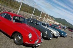 Parecchie automobili dell'annata di Porsche Fotografia Stock