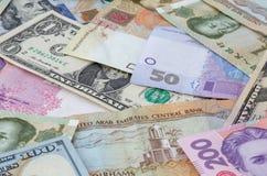 Parecchie banconote di valute Fotografia Stock