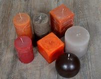 Parecchie candele dell'ornamentale fotografie stock libere da diritti