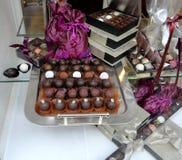 Parecchie caramelle di cioccolato Fotografie Stock Libere da Diritti