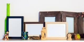 Parecchie cornici di legno Immagini Stock Libere da Diritti