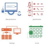 Parecchie direzioni nella sfera 4 dell'IT Illustrazione di Stock